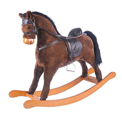 Labebe Wooden Rocking Horse 3 to 8 Years Kids Toy Gift
