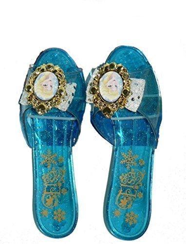 [Disney Frozen Princess Elsa Sparkle Shoes - size 10-13] (Elsa Costume Age 11-12)