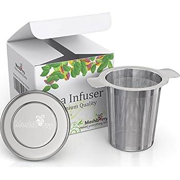 Loose Tea Infuser and Strainer - Premium Stainless Steel - Single Cup - Leaf Tea Steeper