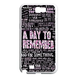 Diy A Day to Remember Cell Phone Case, DIY Durable Cover Case for Samsung Galaxy Note 2 N7100 A Day to Remember