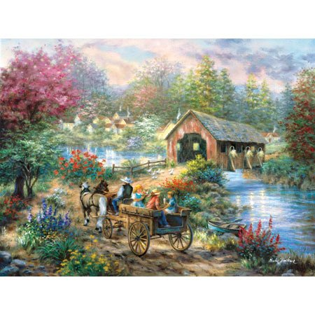 Merriment Cov Bridge, 1500 pc Medallion Coll MST80804