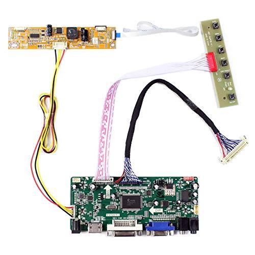 VSDISPLAY HDMI VGA DVI LCD Controller Board Fit for 19 inch 1440x900 LCD: MT190AW02 V3