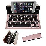 Folding Bluetooth Keyboard,Geyes Portable Travel Foldable Keyboard for iPhone Xs max/x/8/7 Plus/7/6s Plus/6/iPad