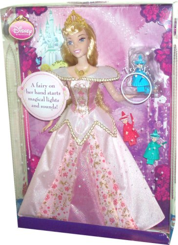 Disney Princess 12 Inch Doll - Sleeping Beauty with 3 Godmothers Fairy : Flora, Fauna and Meriwether that Starts the Magical Lights and Sounds ()