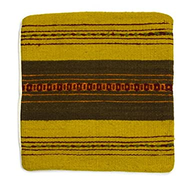 NOVICA Yellow Wool Zapotec Throw Pillow Cover, 'Zapotec Vibes'