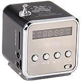 TD-V26 Tragbare Mini Digital Stereo Lautsprecher Speaker Sprecher Mp3 Musik Player FM Radio Micro SD TF