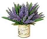 Creative Displays Lavender Heather Arragement Accented with Lemon Leaves In A French Label Container, One Size, Lavender/Purple