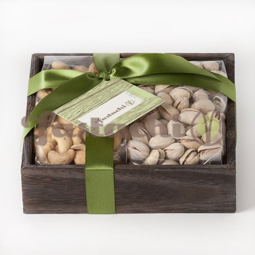 Fastachi® Duo Gift Tray of Nuts - Fastachi® Salted Cashews / Salted Pistachios
