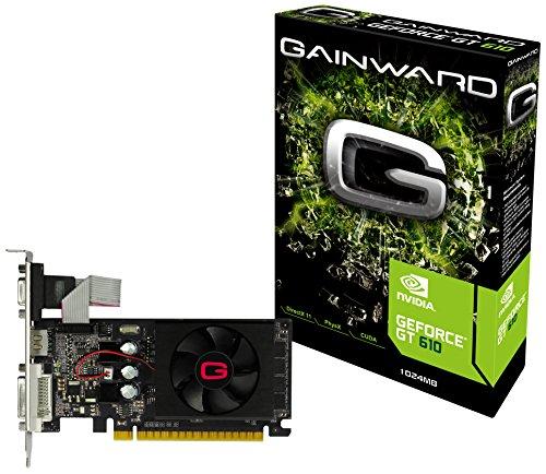 Gainward NVIDIA GeForce GT 610 Grafikkarte (PCI-e, 1GB GDDR3 Speicher, Dual-DVI, HDMI, VGA)