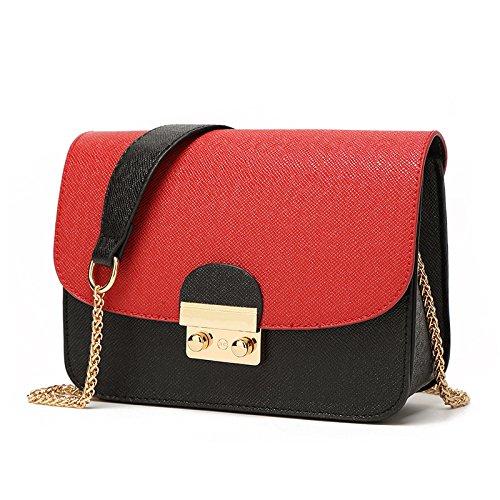 Mefly Moda Xiekua hombro bolsa de paquete de trompeta en blanco y negro Large red hijab