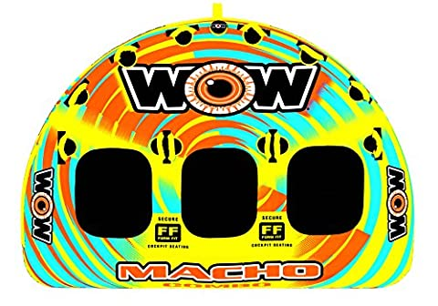 WOW World of Watersports, Macho 16-1030 1 to 3 Person Towable Tube, Multiple Riding Positions - Sportsstuff Mable Series