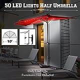 Cheap BenefitUSA10ft Battery Operated LED Half Umbrella Patio Bistro Terrace Outoor Wall Balcony Window Sunshade (Burgundy)