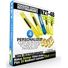 Limitless NZT-48 PLUS Restoramones - 16 Drinks+20 Capsules - Powerful, Customized and Personalized Brain-Boosting Nootropic Drink Mix, with Restoramone Prohormone Blend - and BONUS Booster Capsules.