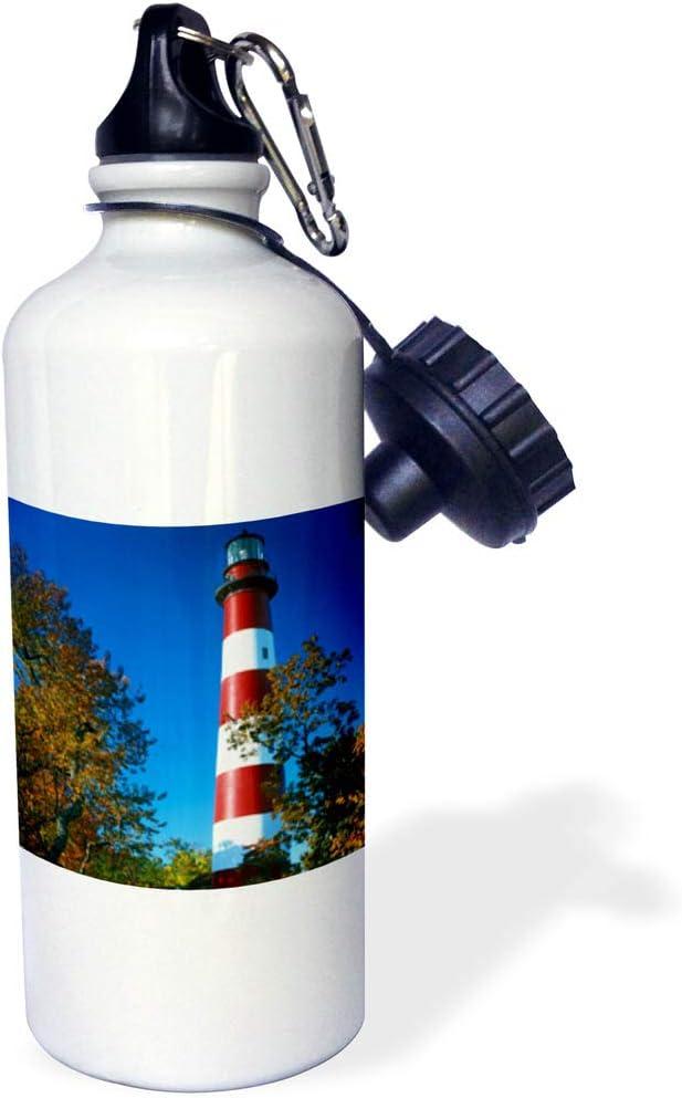 21 ounces Assateague Lighthouse Water Bottle Virginia 3dRose USA Island