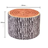 STJK$BMJW Children Stool Adult Stool Dance Stool Kindergarten Wooden Stool Low Stool Cushion Stool Shoes Stool 20Cm Tree Stump