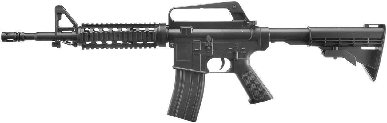 Well Airsoft M4 MR700 - Rifle para Airsoft,con Muelle,de Recarga Manual (0,5 Joule)
