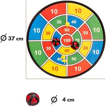 Fun Toys 10093 – Diana 37 cm con Banda De Velcro, Dart Parte Velcro Disco, Pelotas, Flechas