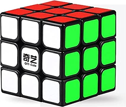 AGAMI QIYI 3x3x3 Black Background Rubiks Magic Smooth Speed Rubix Cube 3D-Puzzle Cube