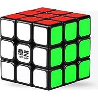 AGAMI QIYI 3x3 Black Thunderclap High Speed Rubiks Cube 3D Puzzle Rubix (Black Base, Multi Colour)