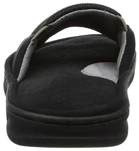 Dearfoams Slide - Pantuflas Hombre Black (Black)