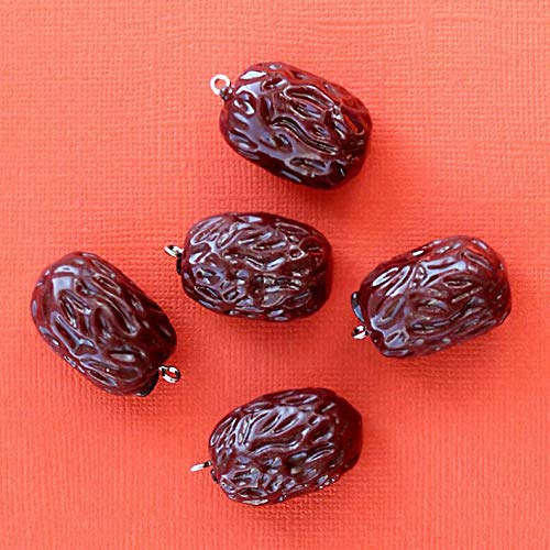 (Extensive Collection of Charm 5 Prune Charm Pendants Resin 3D Just a Hoot - K245 Express Yourself)