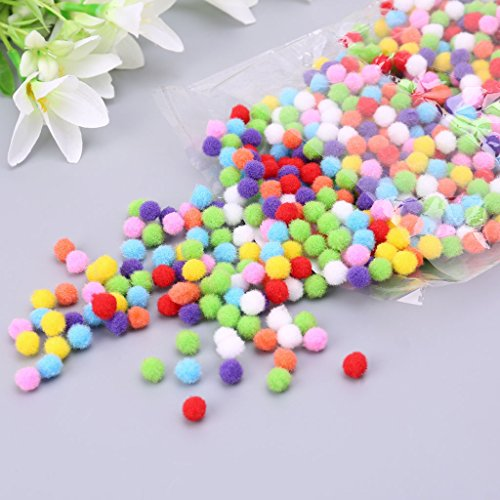 Itlovely 1000Pcs Soft Round Fluffy Craft Pompoms Ball Mixed Color Pom Poms 10mm DIY Craft by Itlovely (Image #5)