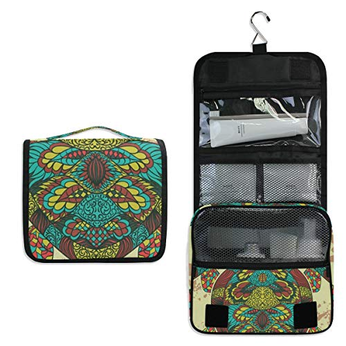 Ethnic Turtle Hanging Travel Toiletry Bag for Women