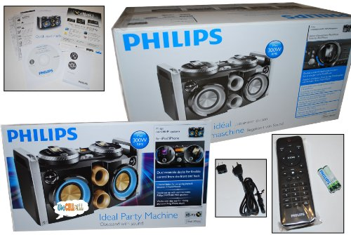 Philips Boombox D Jay Party Machine Dual Ipod Iphone