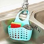 Sink-Sponge-Holder-2-borse-fori-rubinetto-da-appendere-colino-organizer-Storage-rack–Blue-Amesii-Green