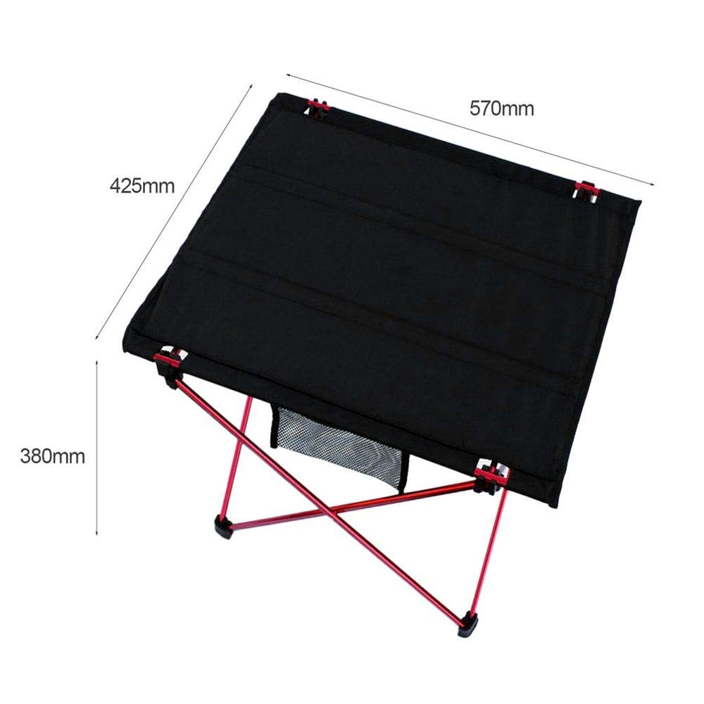 OTTAB Portable Folding Table Aluminium Alloy Picnic Barbecue Table Ultra-Light Durable Outdoor Table Desk for Camping Travel Red Wine