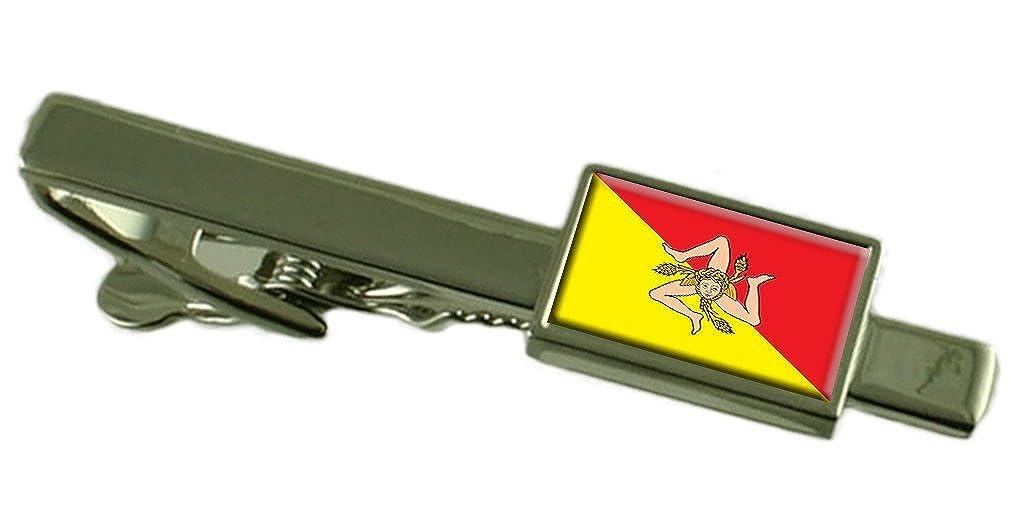 Select Gifts Región Sicilia Italia Bandera Clip de Corbata: Amazon ...