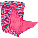 PixieCrush Mermaid Tail Blanket for Teenagers/Adults & Kids Thick, Plush Super Comfy Fleece Snuggle Blanket with Double Stitching, Keep Feet Warm (Small, Pink, Blue, Coral, Purple)
