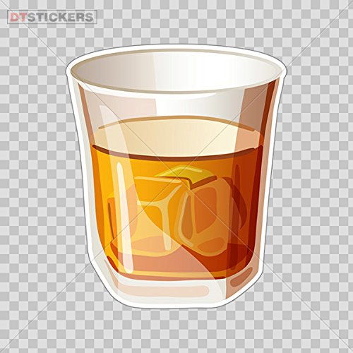 Sticker Glass Of Scotch Whiskey Drink Durable Boat D217 2249C