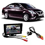 Fabtec Premium Quality 5.0 Inch Full Hd Dashboard Screen With LED Night Vision Waterproof Car Rear View Reverse Parking Camera For Nissan Sunny