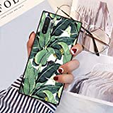 Square Banana Leaves Samsung Galaxy Note 10 Plus Case, JQLOVE All-Inclusive Full-Body Shockproof Protective Phone Cover, Case for Samsung Galaxy Note 10+ 5G Banana Leaves