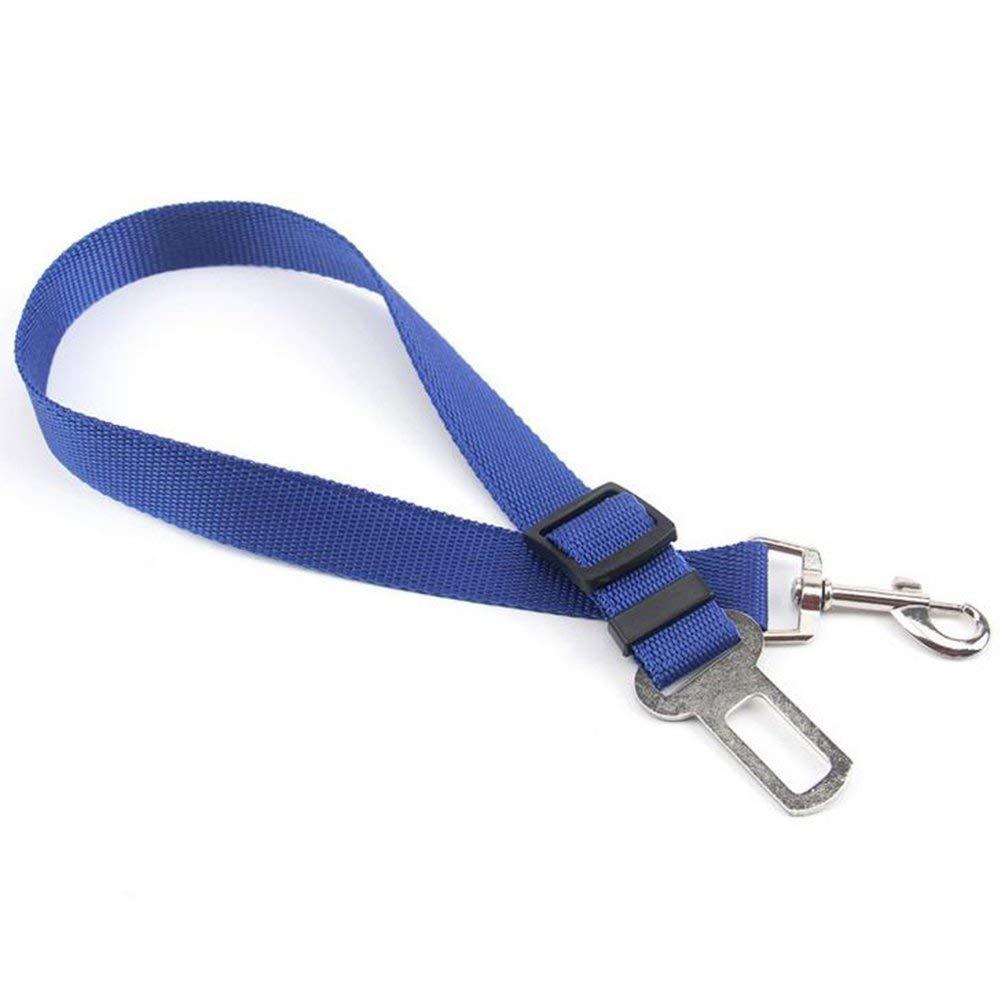 Tcplyn Premium Quality Dog Retractable Dog Pet Car Safety Belt Seat Belt Safety Belt for Pets Car Supplies Car Seat Belts for Pets Dog Leads (Blue)
