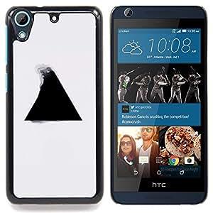 """Qstar Arte & diseño plástico duro Fundas Cover Cubre Hard Case Cover para HTC Desire 626 (Geometría del triángulo B & W"""")"""