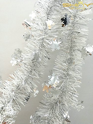2017 New Winter Wonderland Holiday Tinsel Garland (2m 6.5 Ft.Silve) (TG002)