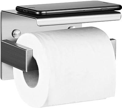 Selbstklebend Toilettenpapierhalter SUS 304 Edelstahl/f/ür K/üche /& Badzimmer Silber Nickel geb/ürstet Polarduck Toilettenpapierhalter Ohne Bohren mit Ablage Selbstklebend oder Schrauben Installation