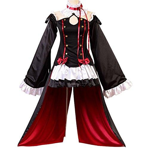 (Ya-cos Adult Halloween Masquerade Vampires Krul Tepes Cosplay Costume (Women:XXX-Large,)