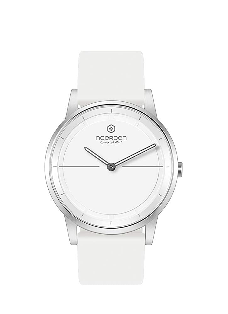NOERDEN MATE2 - Blanc - Silicone - Montre connectée Hybride - 40mm: Amazon.fr: Montres