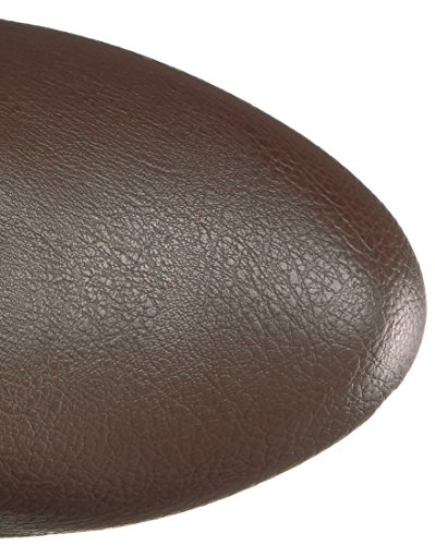Chloe-308 Hochplateau über Kniestiefel mit Schnallen und Stilettferse braun - Steampunk - (EU 46 US = 15) - Pleaser Rosa-Aufkleber