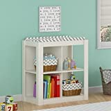 Ameriwood Home Riley Changing Table with Cubbies, White Image