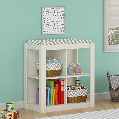 Cosco Products Riley Baby Room Changing Table, White (Baby Cribs Cosco)
