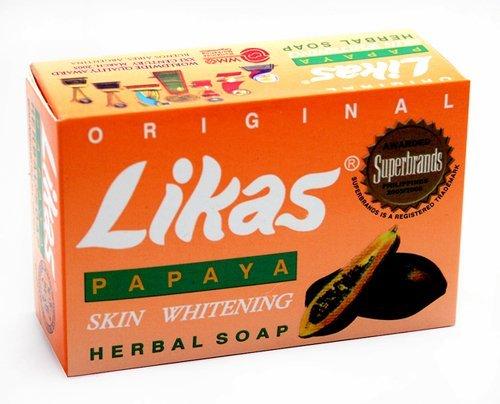 Likas Original Papaya Whitening Soap, (Pack of 2)