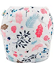 babygoal Reusable Swim Diaper, One Size Adjustable and Washable Swim Underwear Fits 0-2 Years Babies and Swimming Lessons