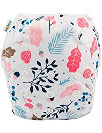 Baby Reusable Swim Diaper, Washable and Adjustable for...