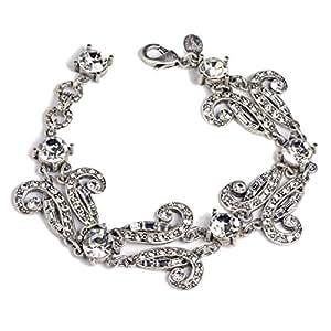 Sweet Romance Art Deco Vintage Hollywood Crystal Bracelet (Crystal)