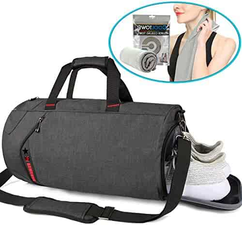 1456c2a571a1 SCIONE Sports Gym Bag for Men Waterproof Travel Duffel Bag for Women with Wet  Pocket