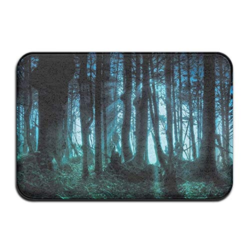 Scary Halloween Forest Home Door Mat Super Absorbent Antiskid Front Floor Mat,Soft Coral Memory Foam Carpet Bathroom Rubber Entrance Rugs for Indoor Outdoor ()